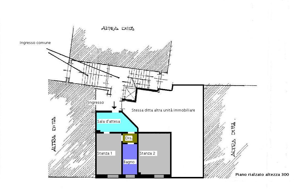 Ufficio in vendita, rif. 434 (Planimetria 2/2)