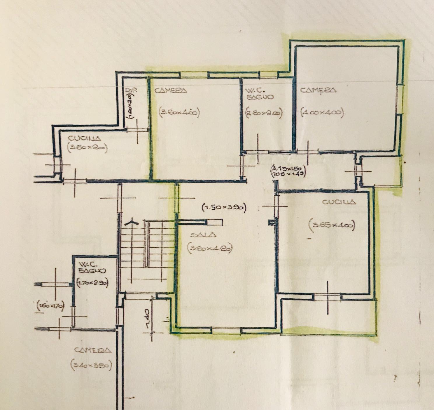 Planimetria 1/1 per rif. 4V496