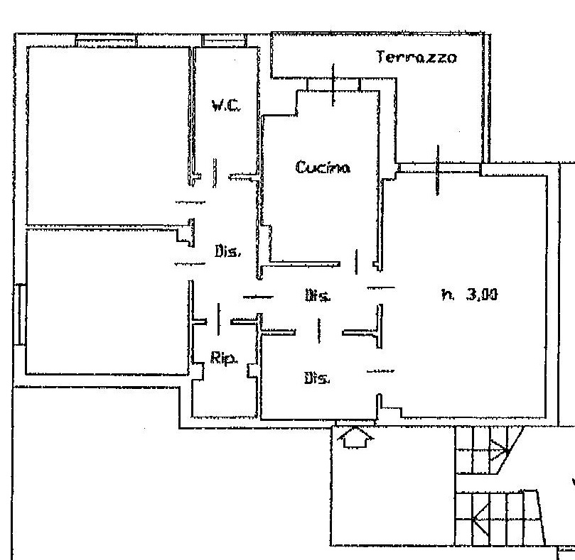 Planimetria 1/1 per rif. 4V424