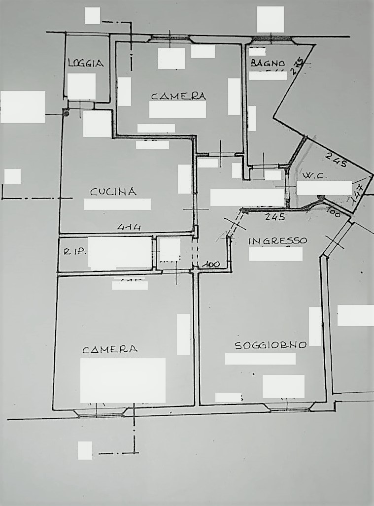 Planimetria 1/1 per rif. 4V527