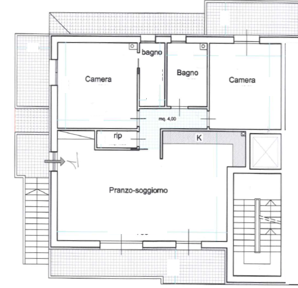 Planimetria 1/2 per rif. 3V397