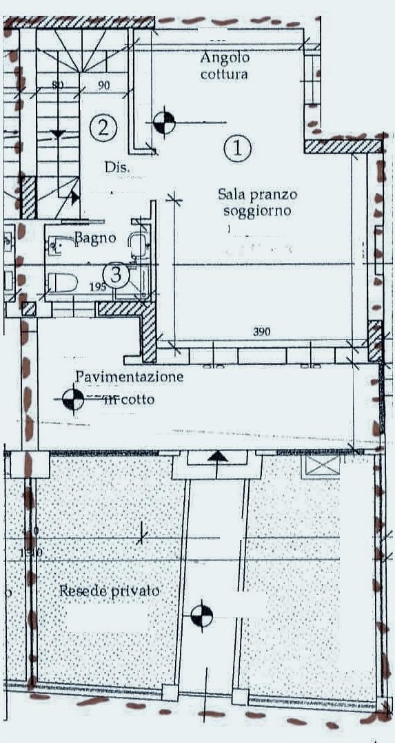 Planimetria 1/3 per rif. T210