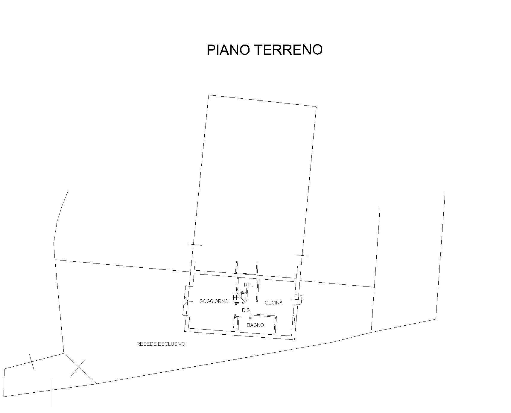 Planimetria 1/2 per rif. PC136