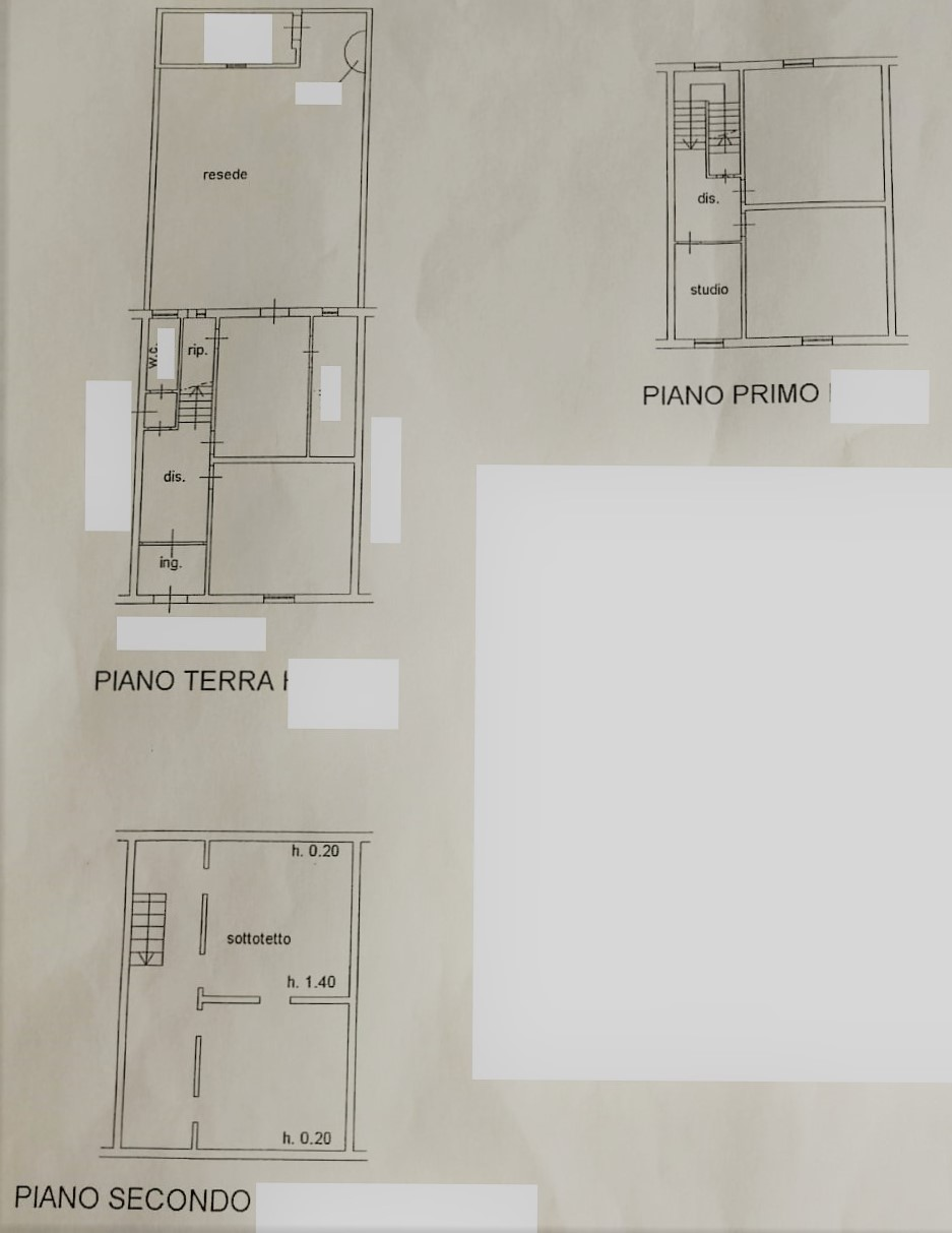Planimetria 1/1 per rif. T212