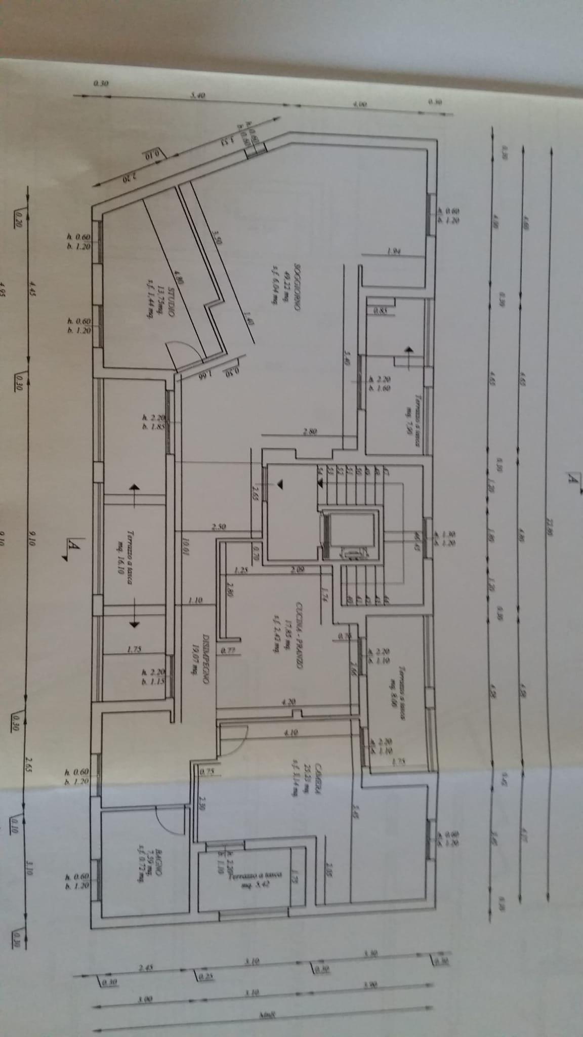 Planimetria 1/1 per rif. 6954