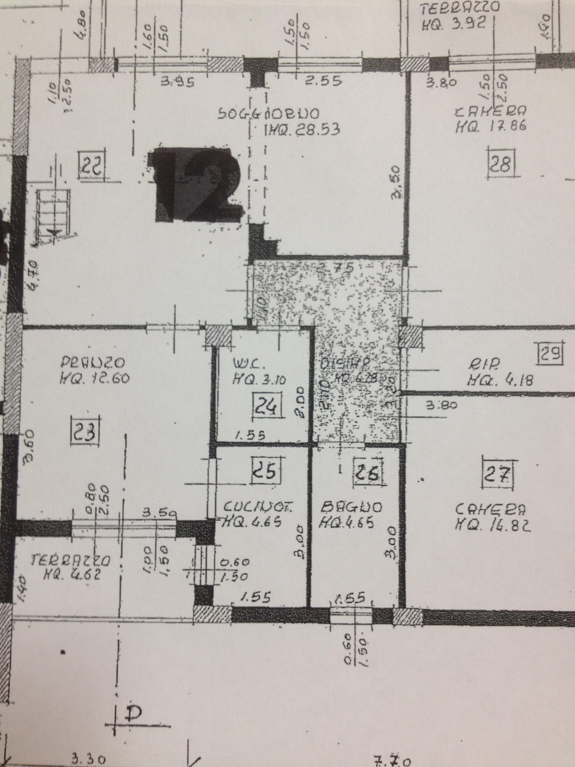 Planimetria 1/1 per rif. 5973