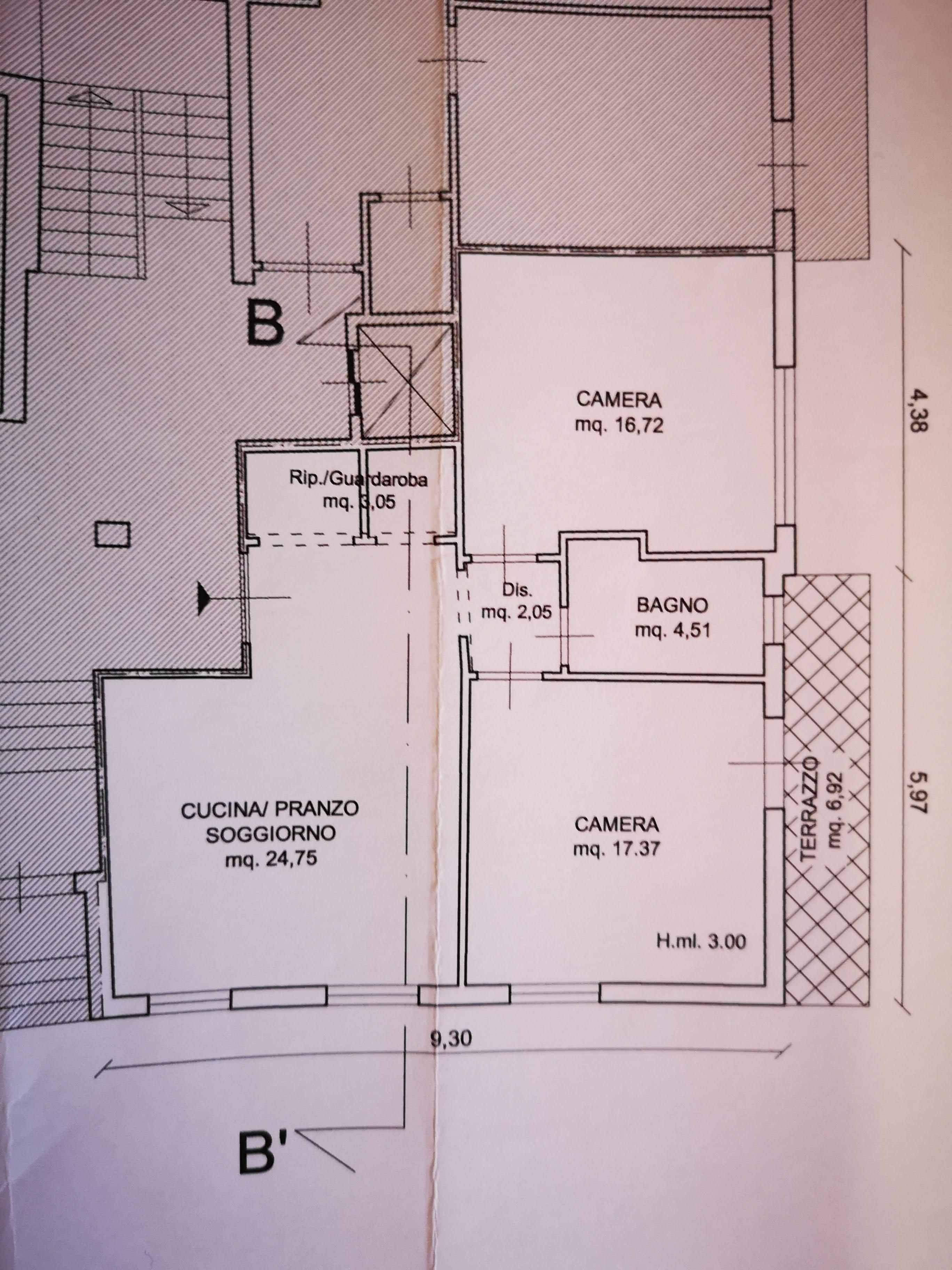 Planimetria 1/1 per rif. 7036