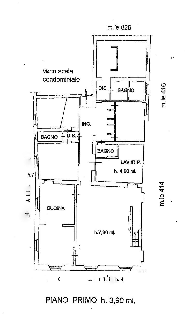 Planimetria 1/1 per rif. BB427