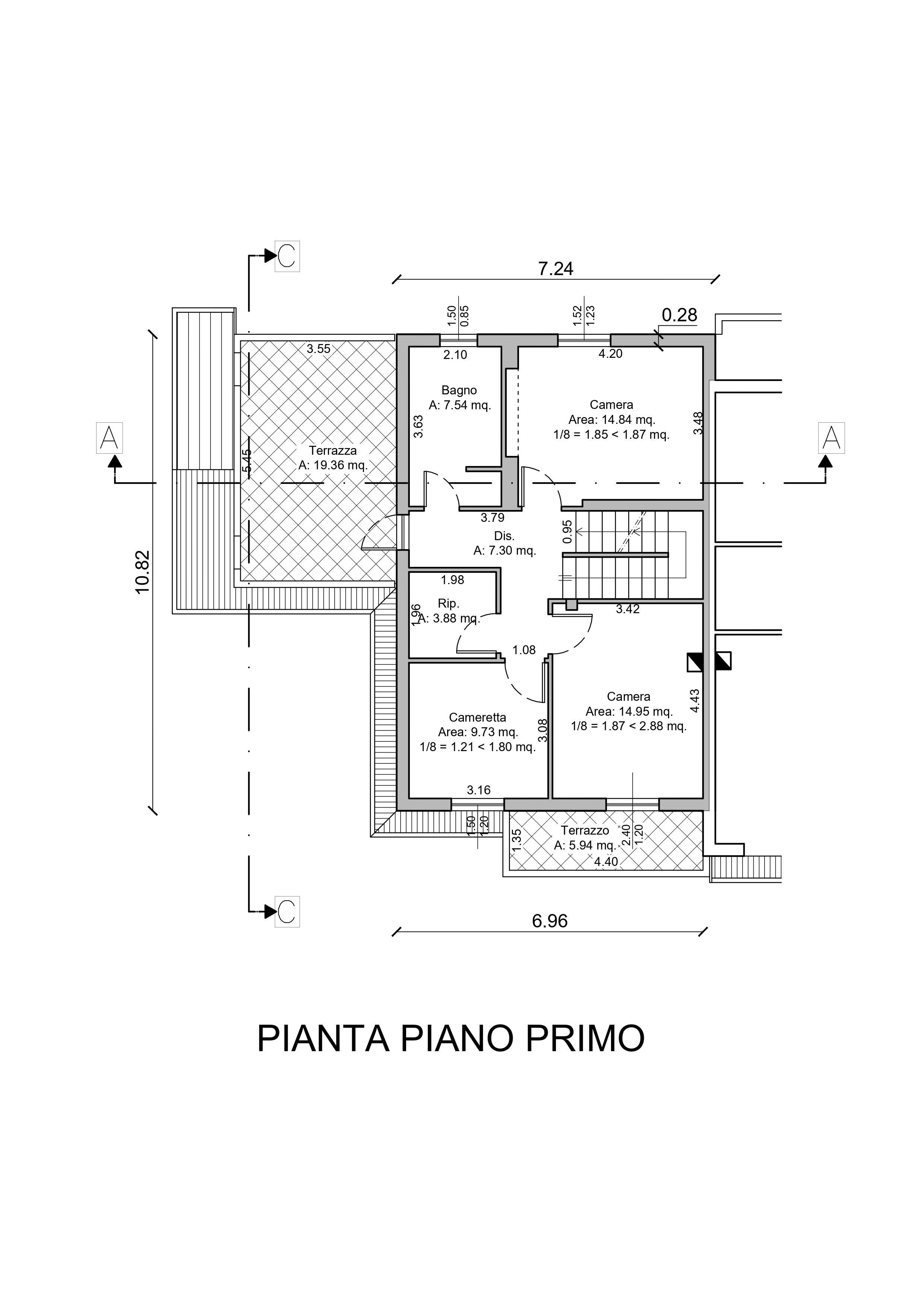 Planimetria 2/3 per rif. AR343