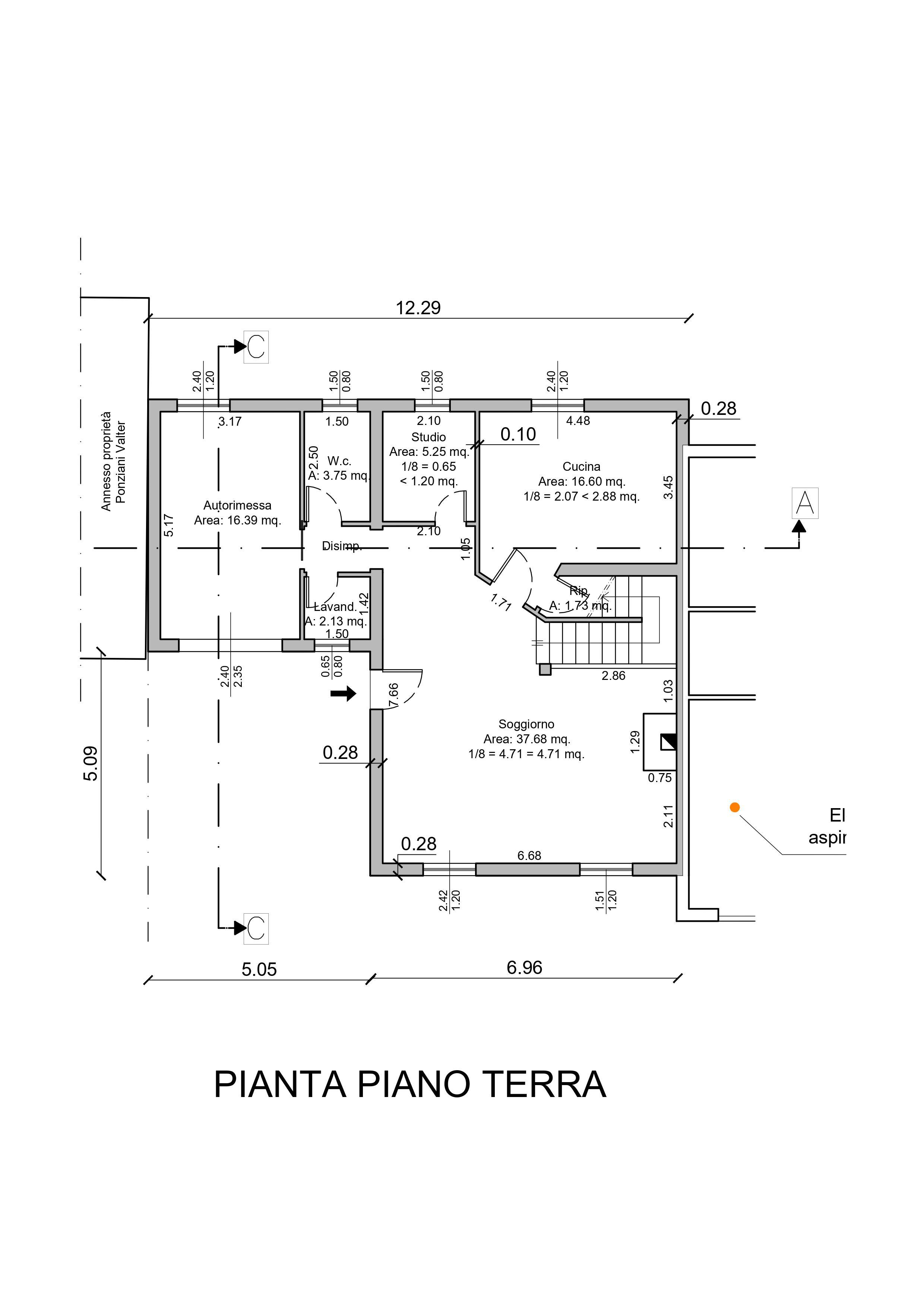Planimetria 1/3 per rif. AR343