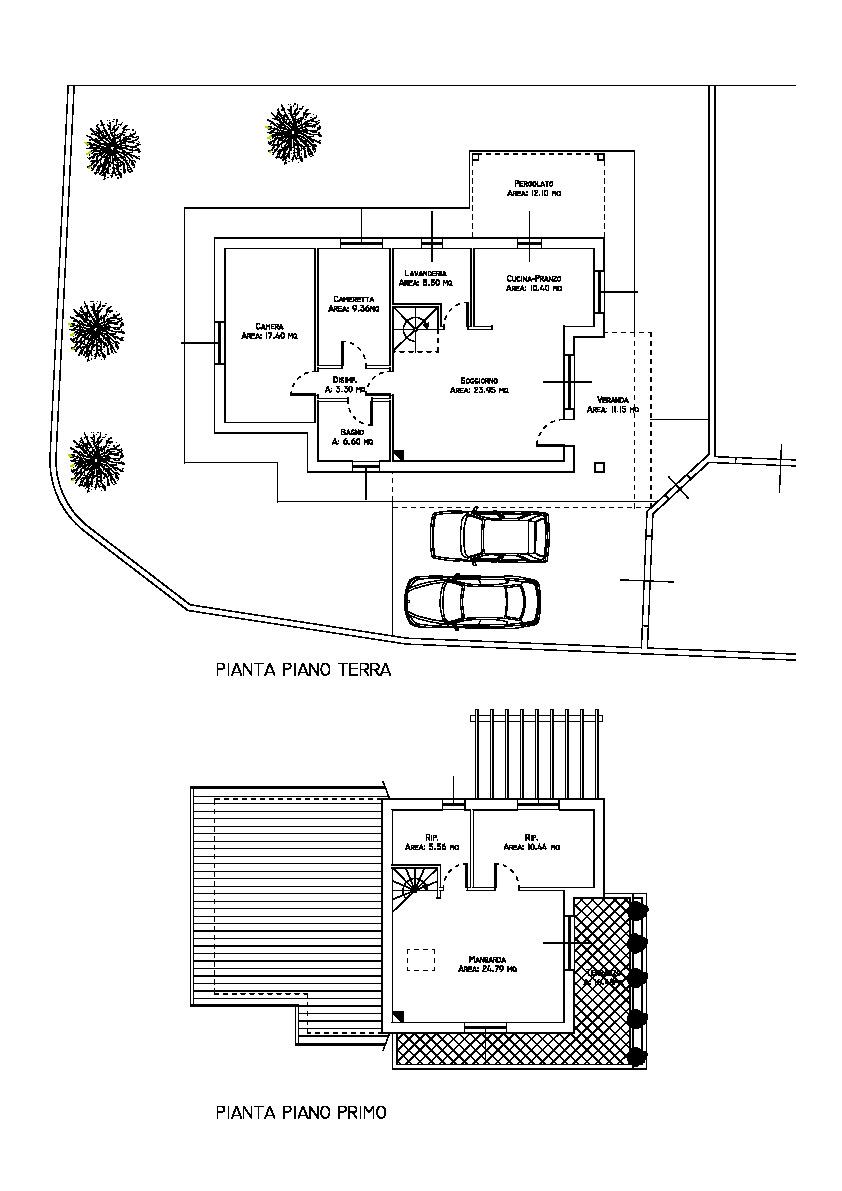 Planimetria 1/2 per rif. AR383