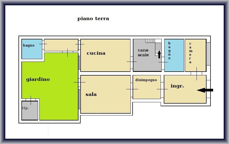 Planimetria 1/2 per rif. 901