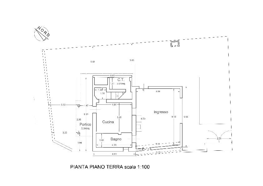 Planimetria 1/4 per rif. 1053
