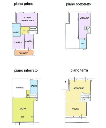 Planimetria 1/1 per rif. F613
