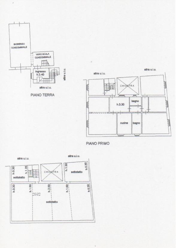 Planimetria 1/1 per rif. E501