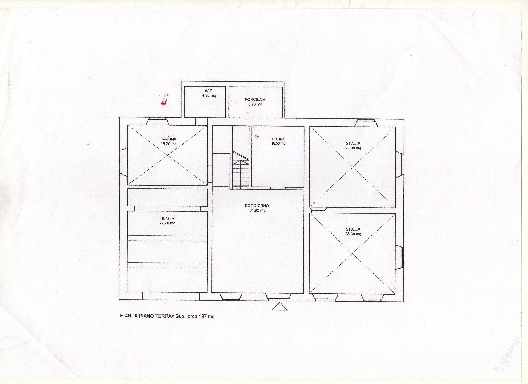 Planimetria 1/2 per rif. R800