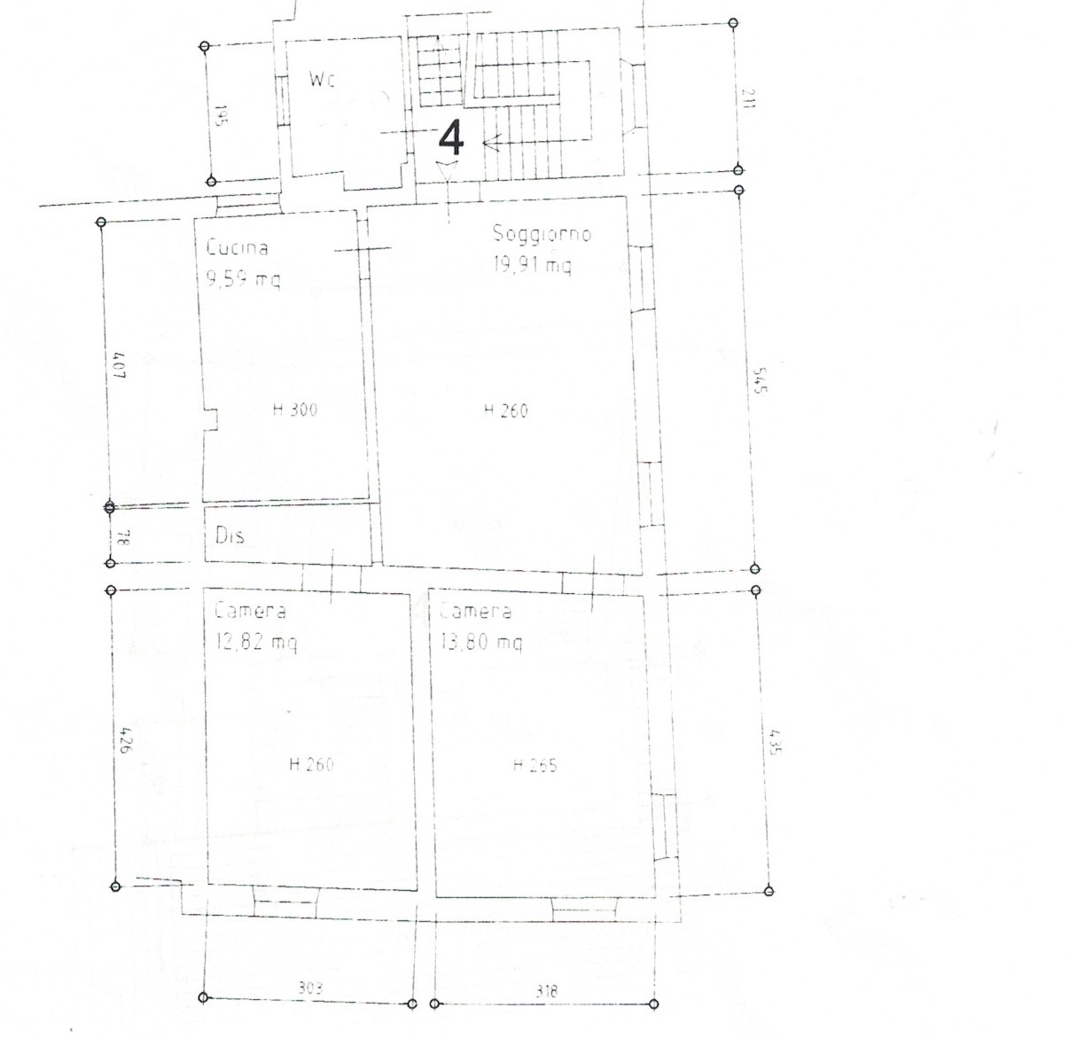 Planimetria 4/5 per rif. 23