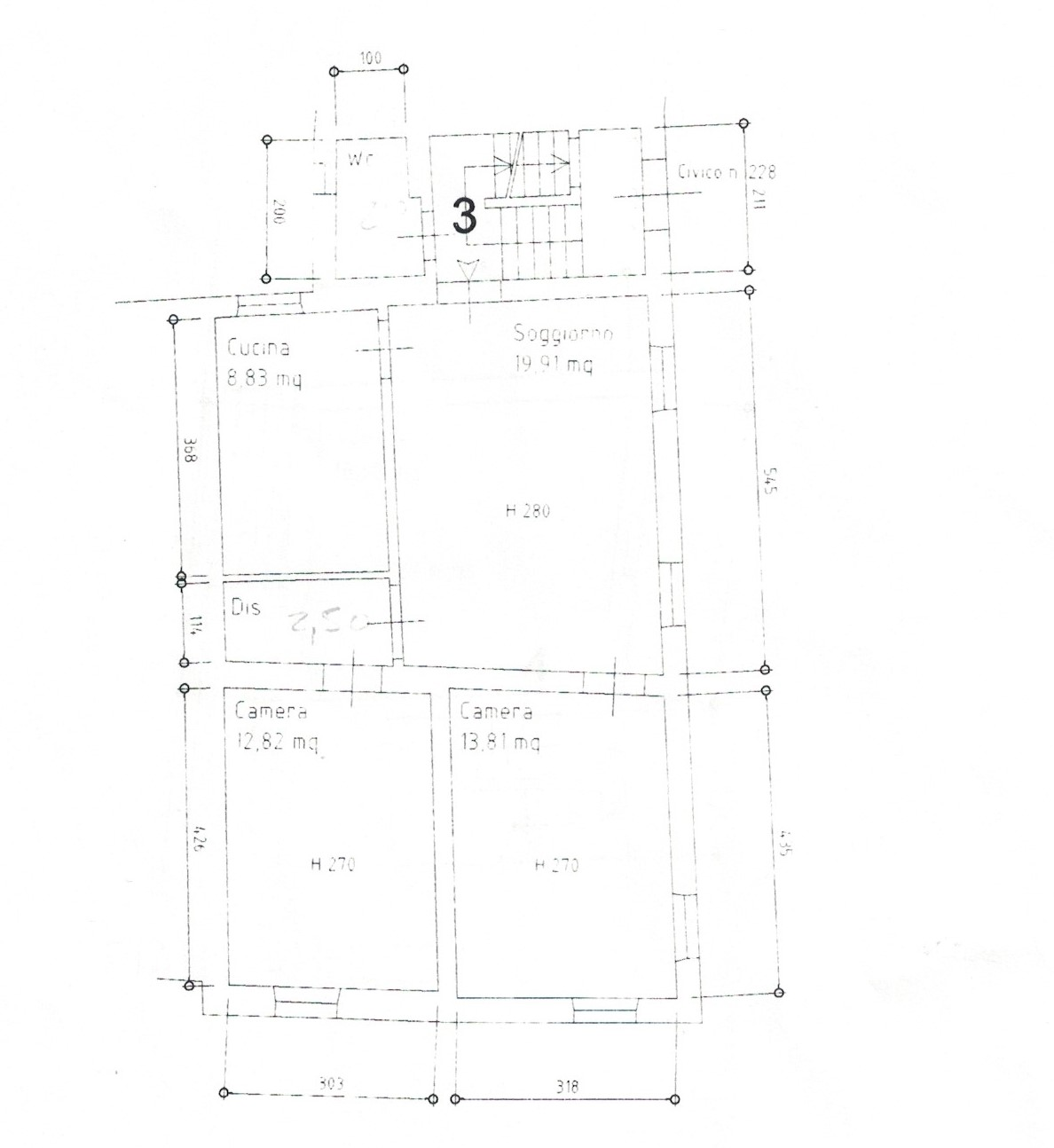 Planimetria 3/5 per rif. 23
