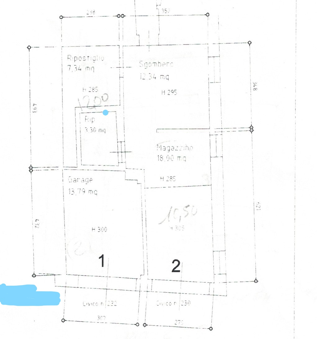 Planimetria 1/5 per rif. 23