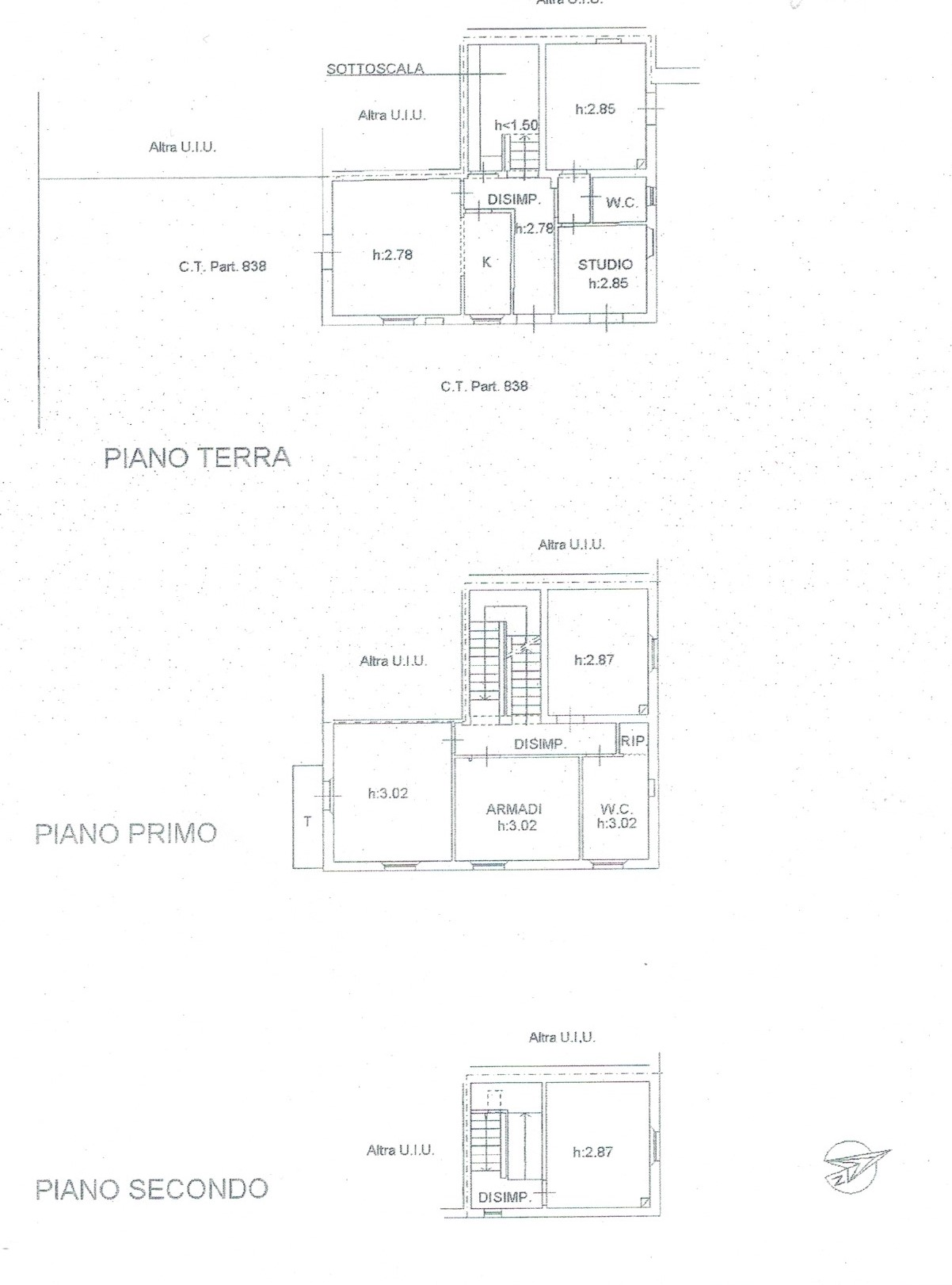 Planimetria 1/2 per rif. 191