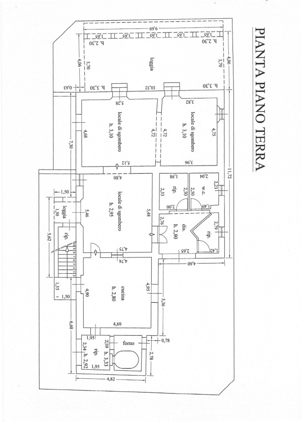 Planimetria 1/2 per rif. 512