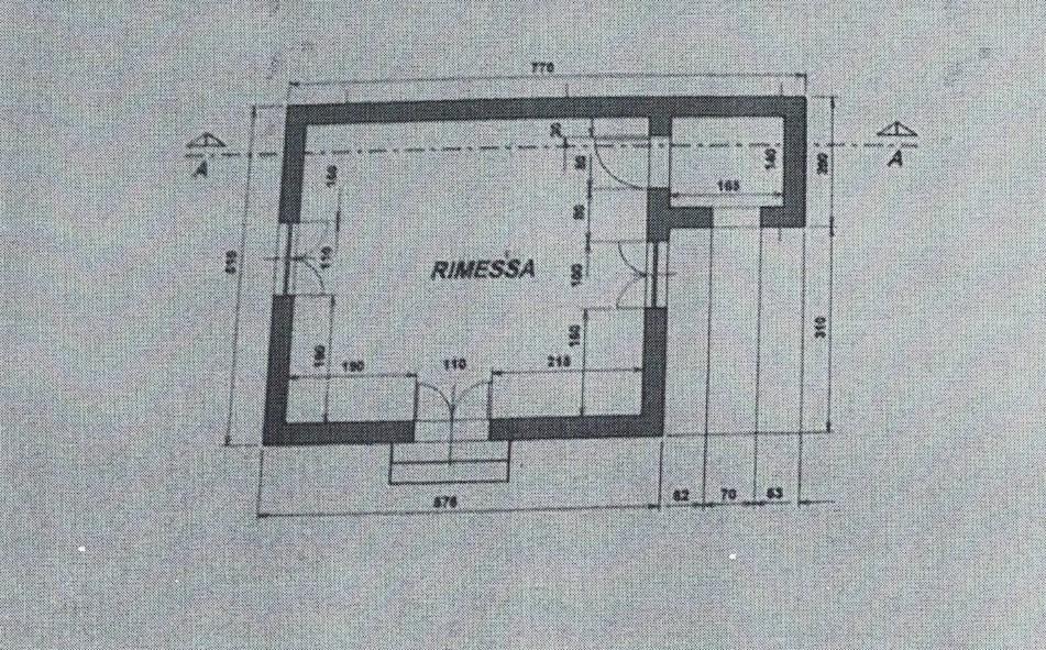 Planimetria 3/4 per rif. 183