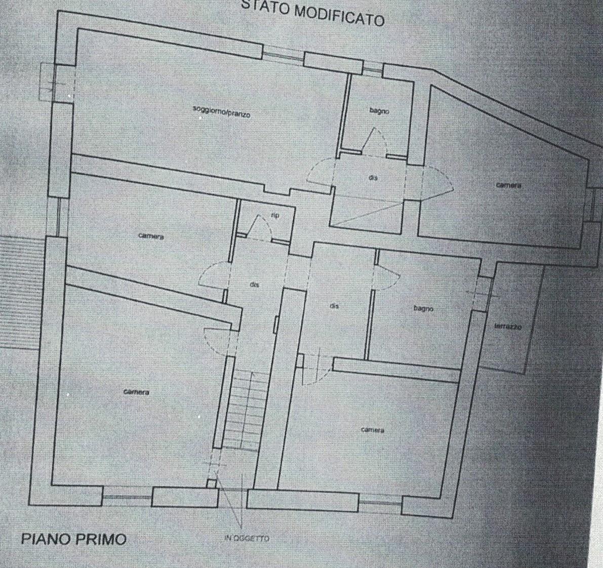 Planimetria 1/4 per rif. 183