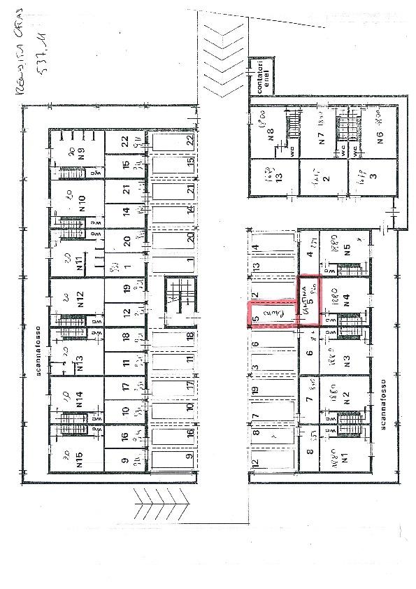 Planimetria 1/2 per rif. C1188
