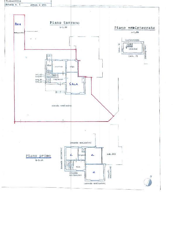 Planimetria 1/1 per rif. 1064