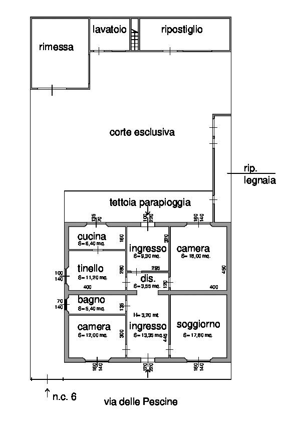 Planimetria 1/1 per rif. 1322