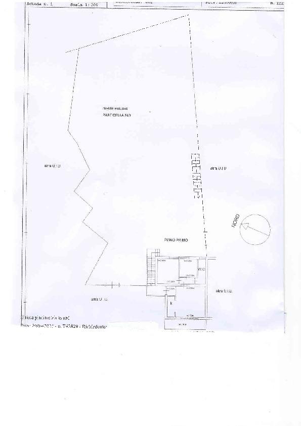 Planimetria 1/1 per rif. D1334