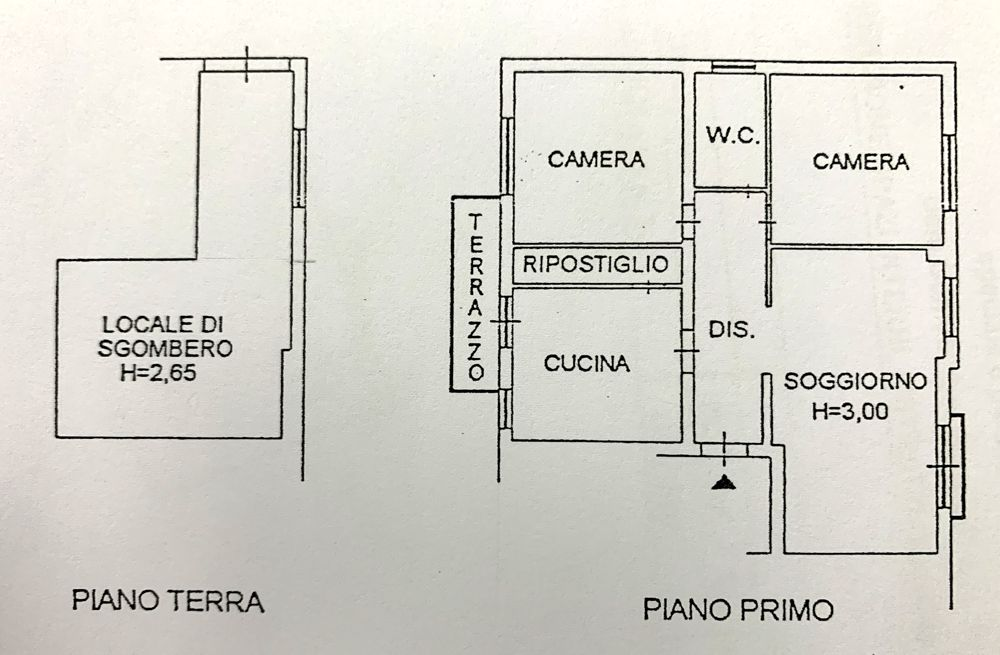 Planimetria 1/1 per rif. 2001