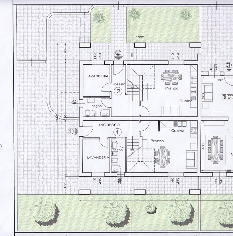 Planimetria 1/3 per rif. M101