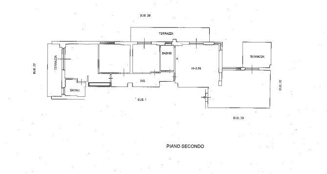 Planimetria 1/2 per rif. M1501