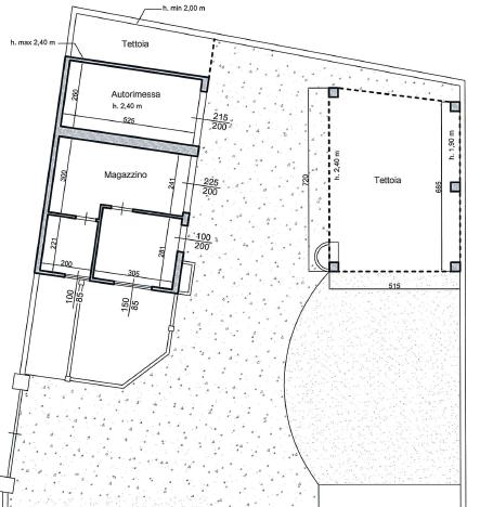 Planimetria 1/5 per rif. M1520