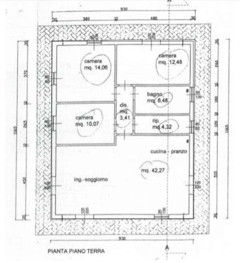 Planimetria 2/2 per rif. MN361