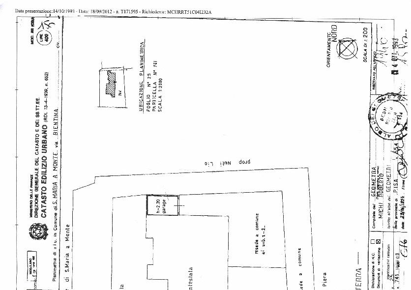 Planimetria 3/3 per rif. 71