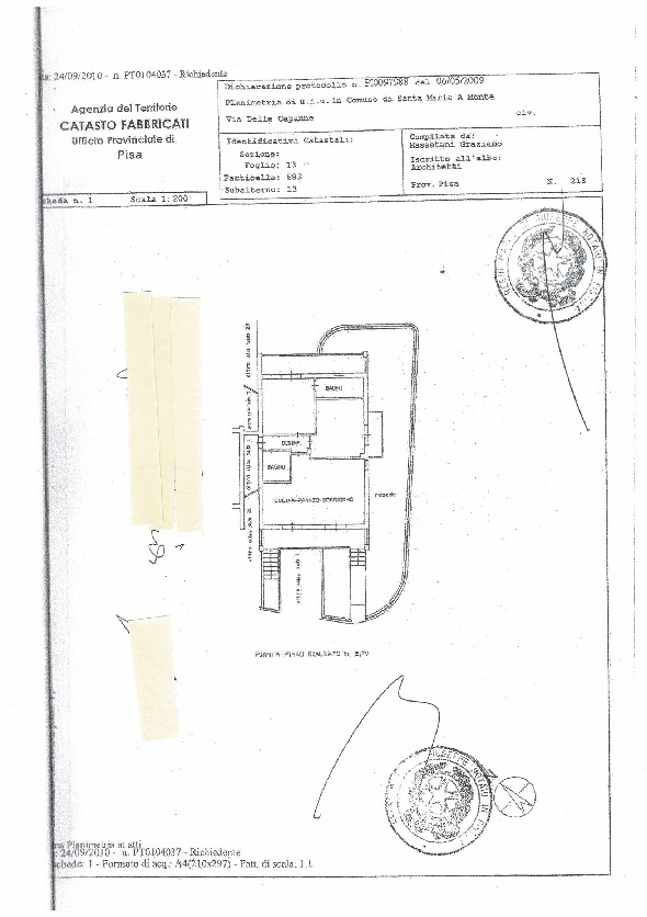 Planimetria 1/1 per rif. 2850