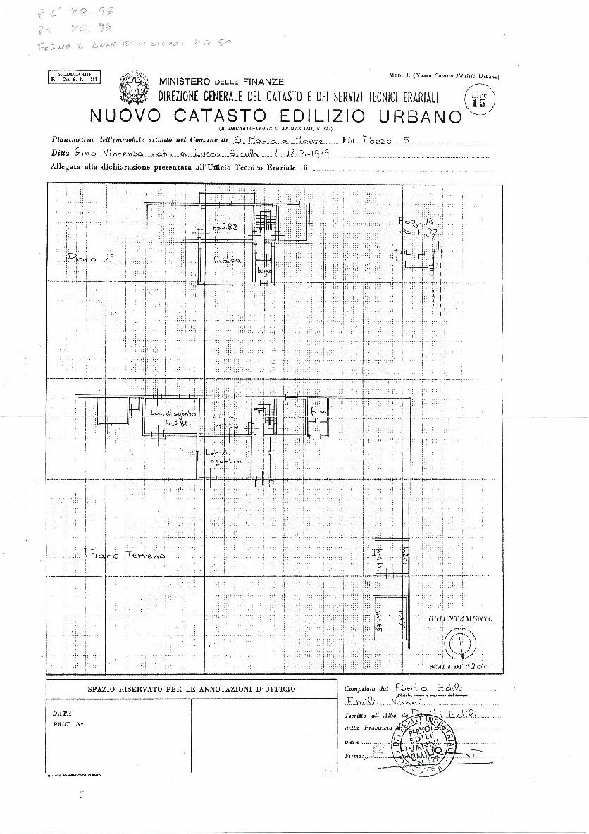 Planimetria 1/1 per rif. 22