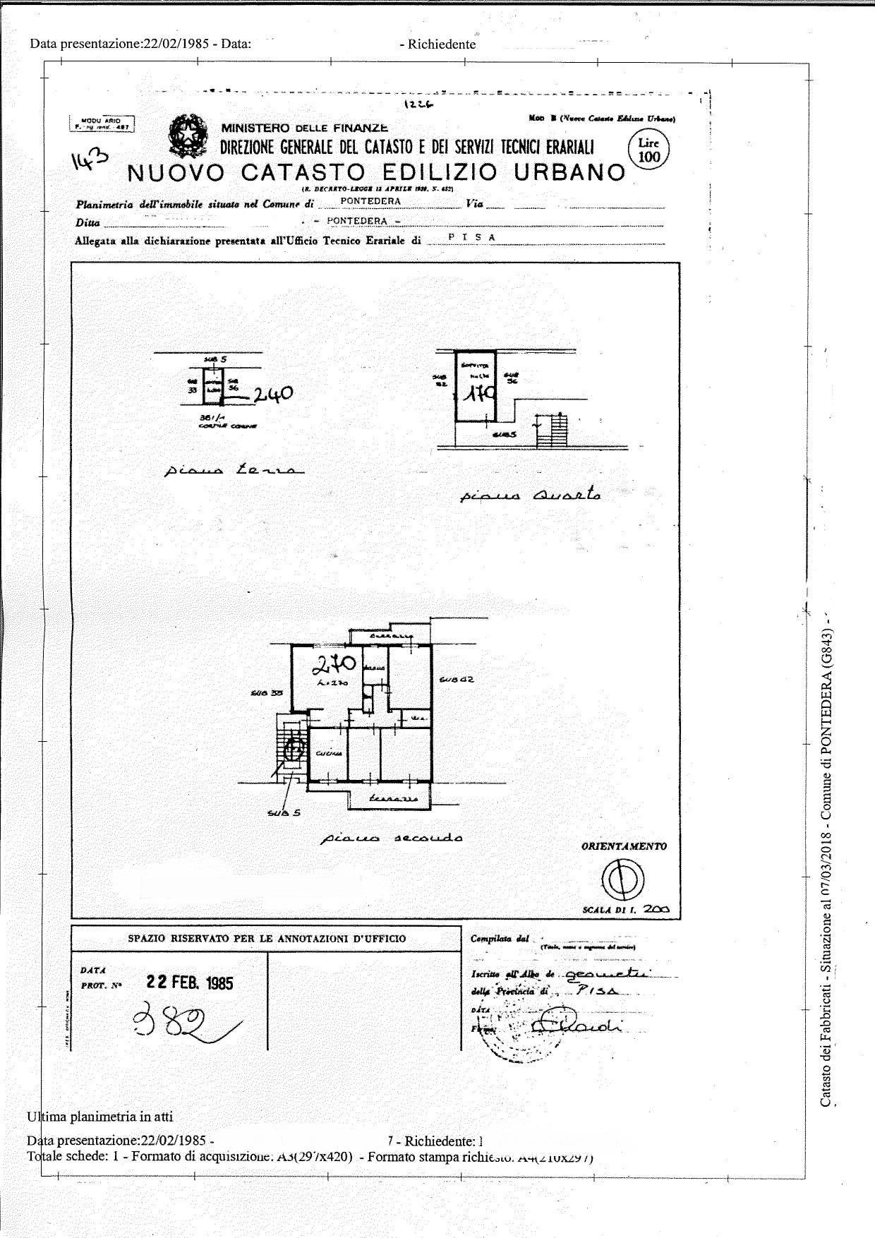 Planimetria 1/2 per rif. A07V