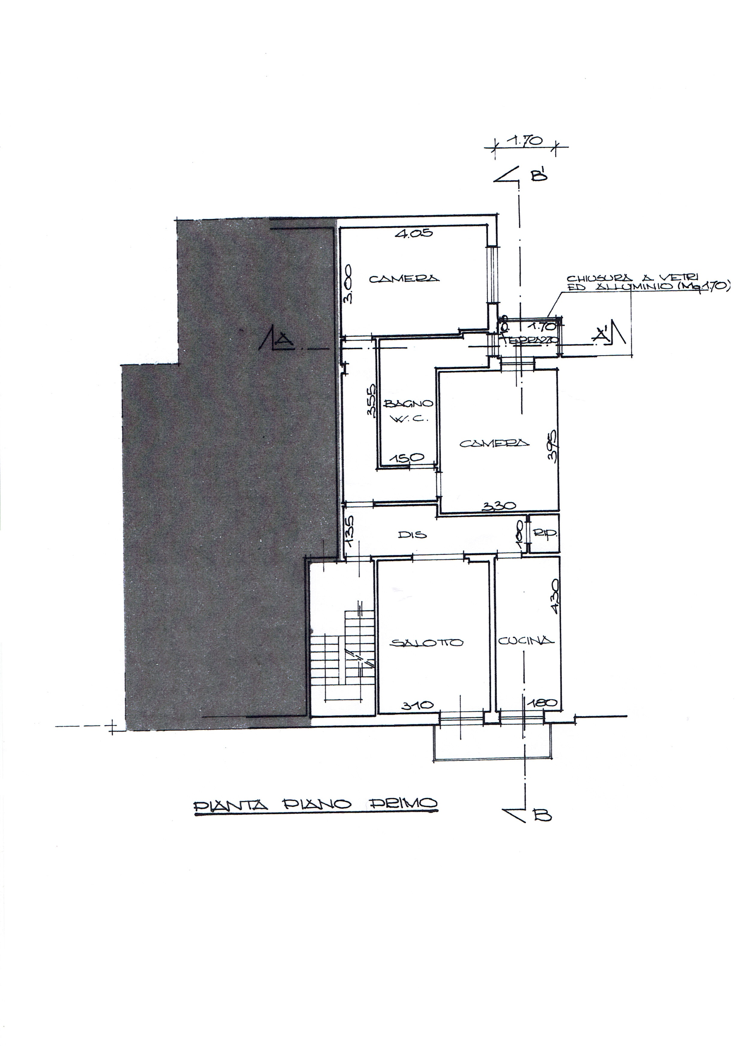 Planimetria 1/4 per rif. 3456V2