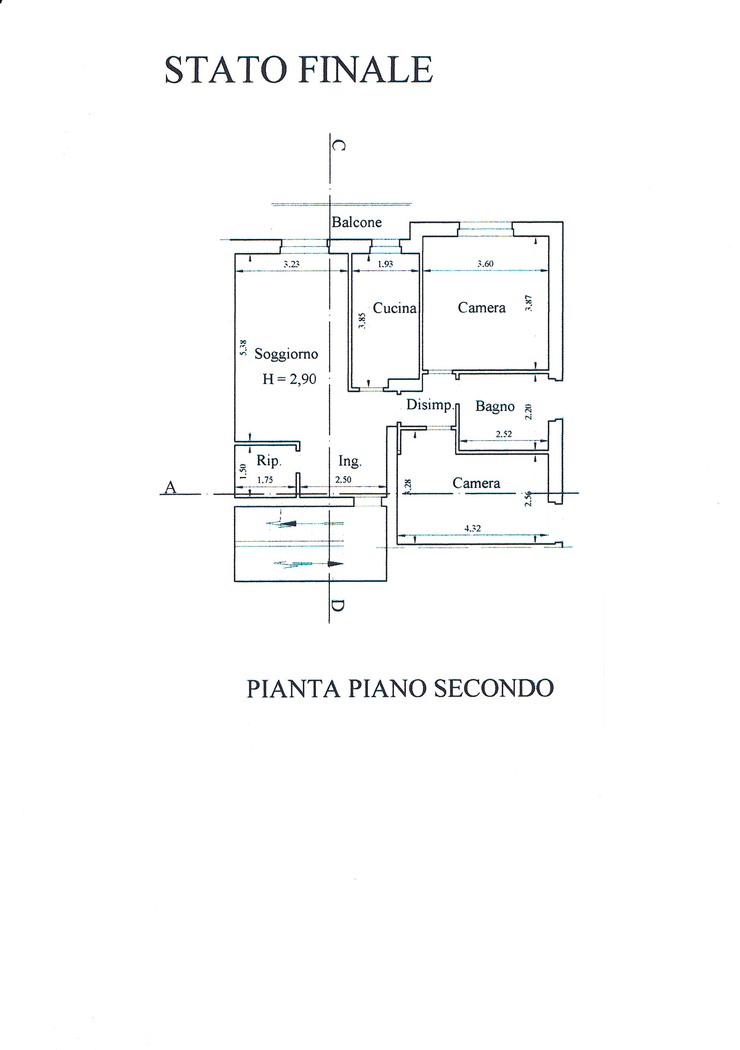Planimetria 2/2 per rif. 2679V2