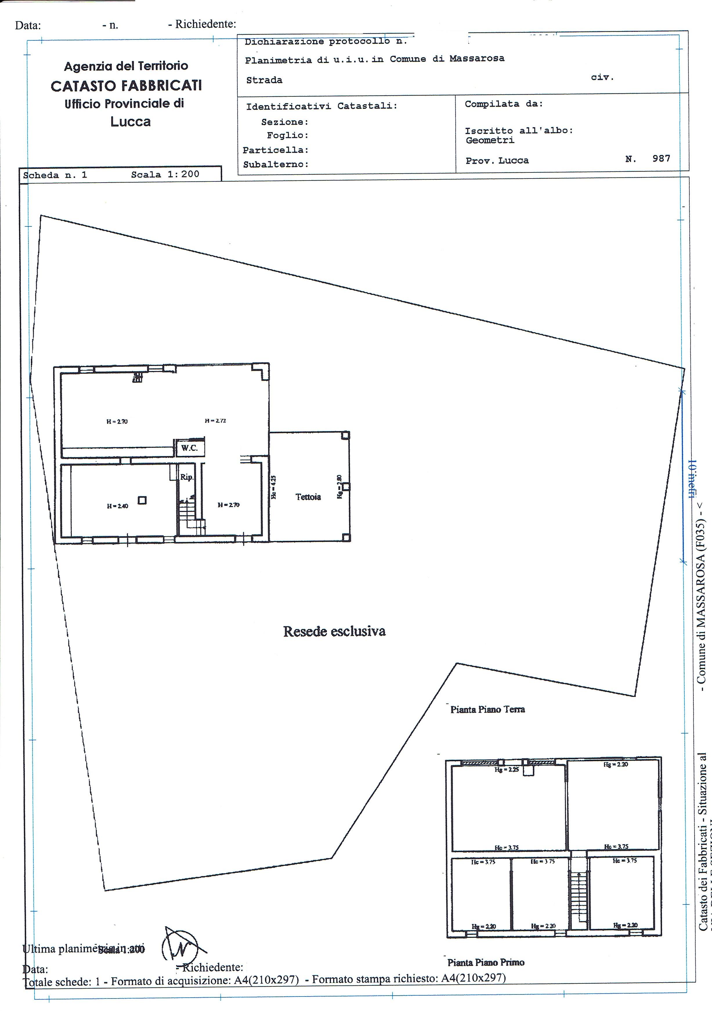 Planimetria 3/3 per rif. 2664M2