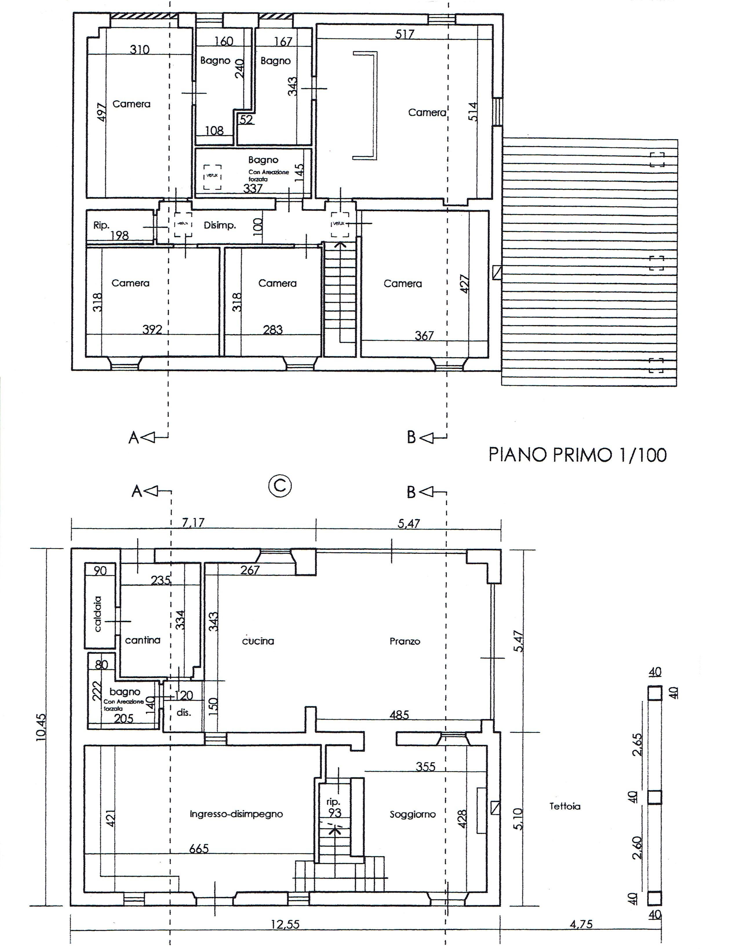 Planimetria 1/3 per rif. 2664M2