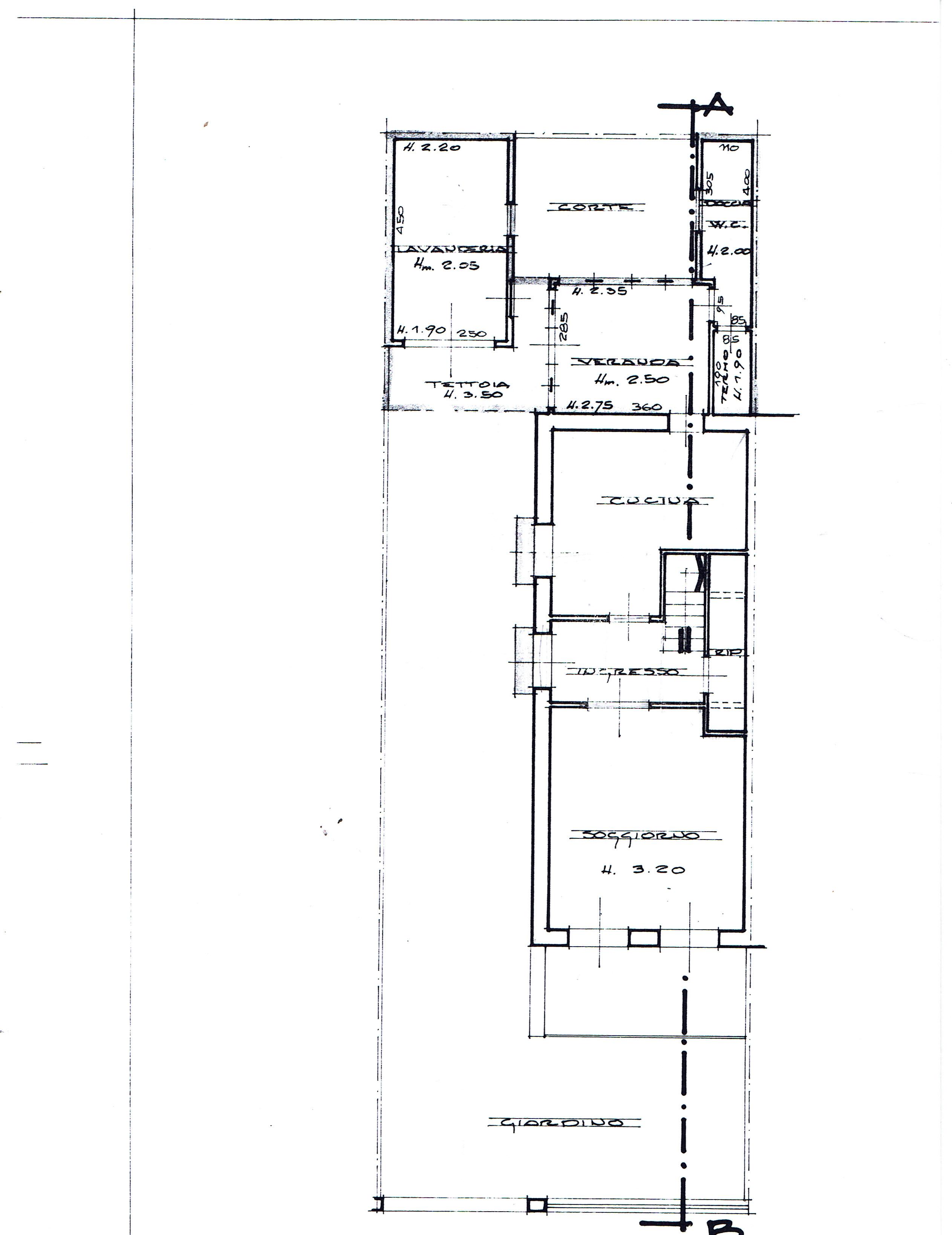Planimetria 1/5 per rif. 2911V2