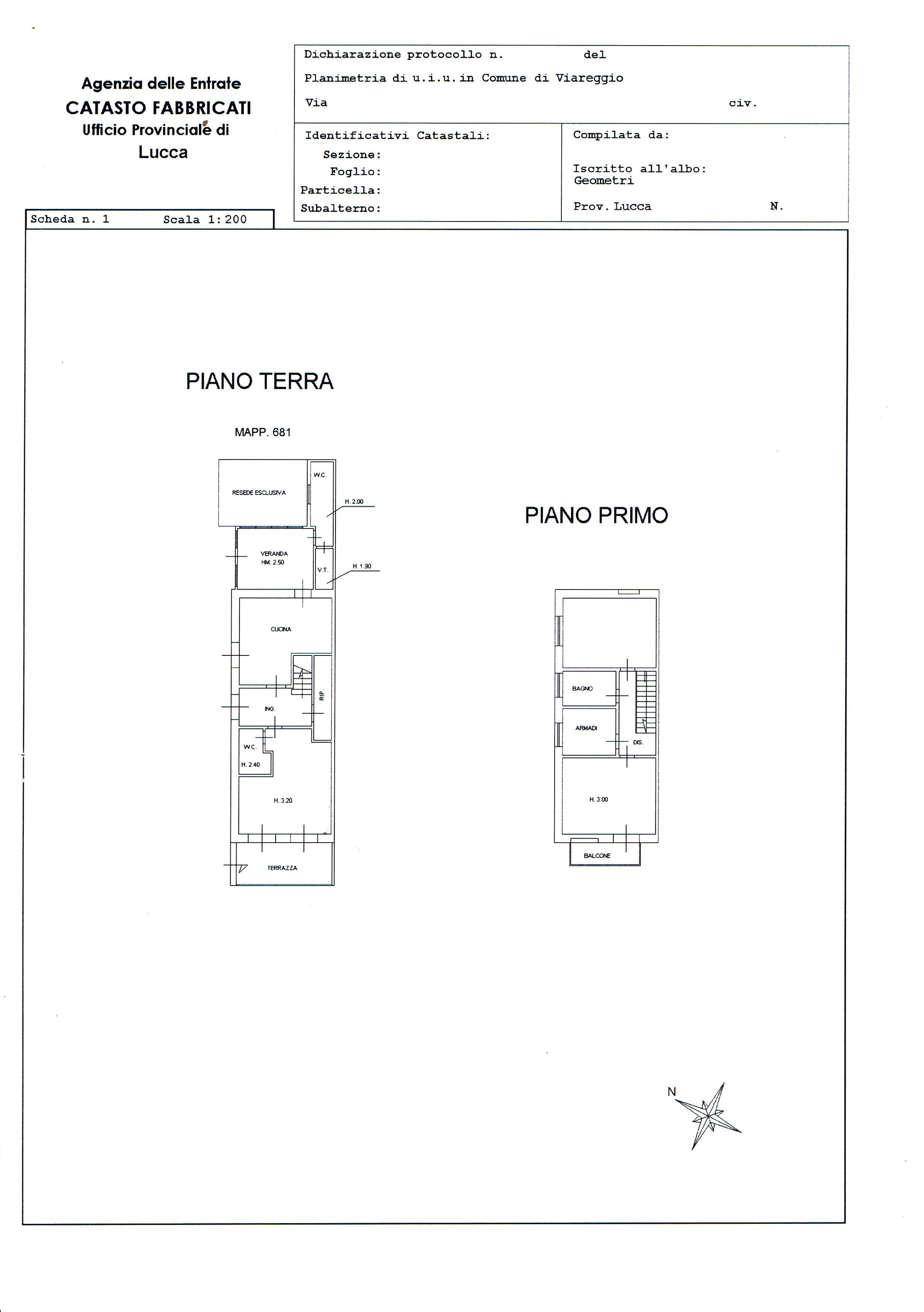 Planimetria 4/5 per rif. 2911V2