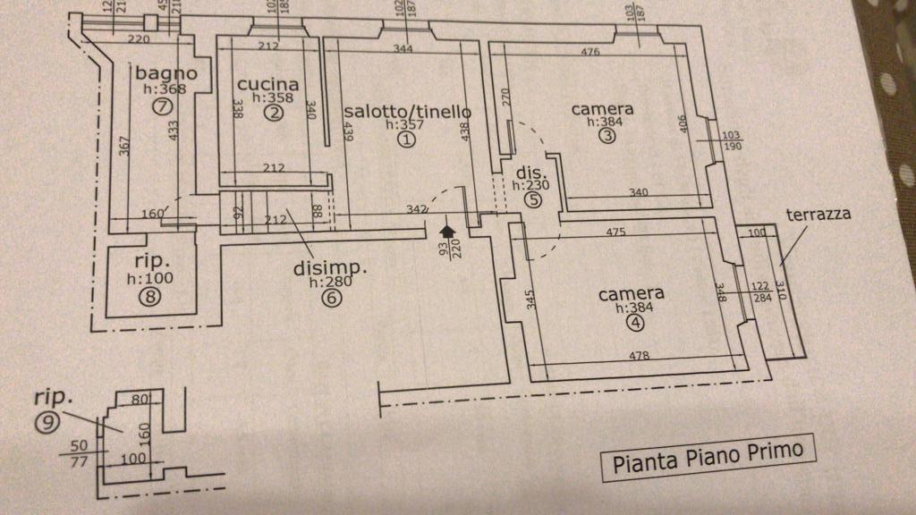 Planimetria 1/1 per rif. 3065V3