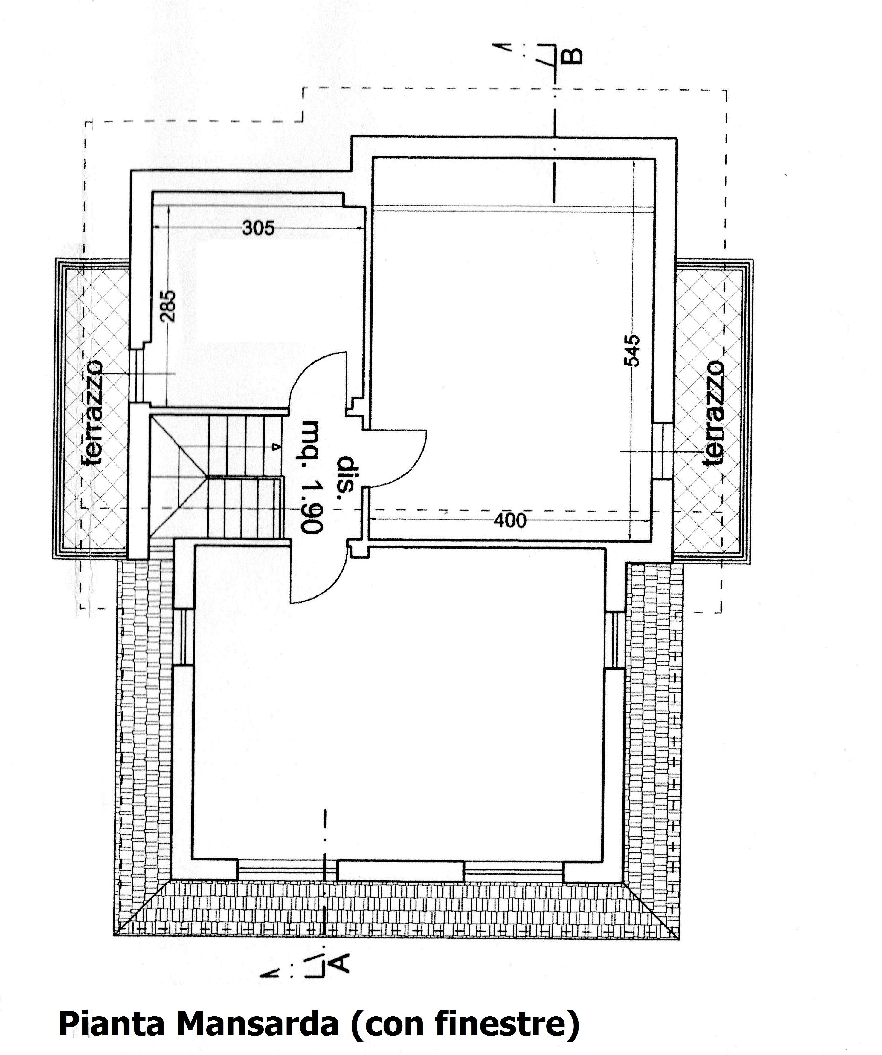 Planimetria 2/3 per rif. 3055M2