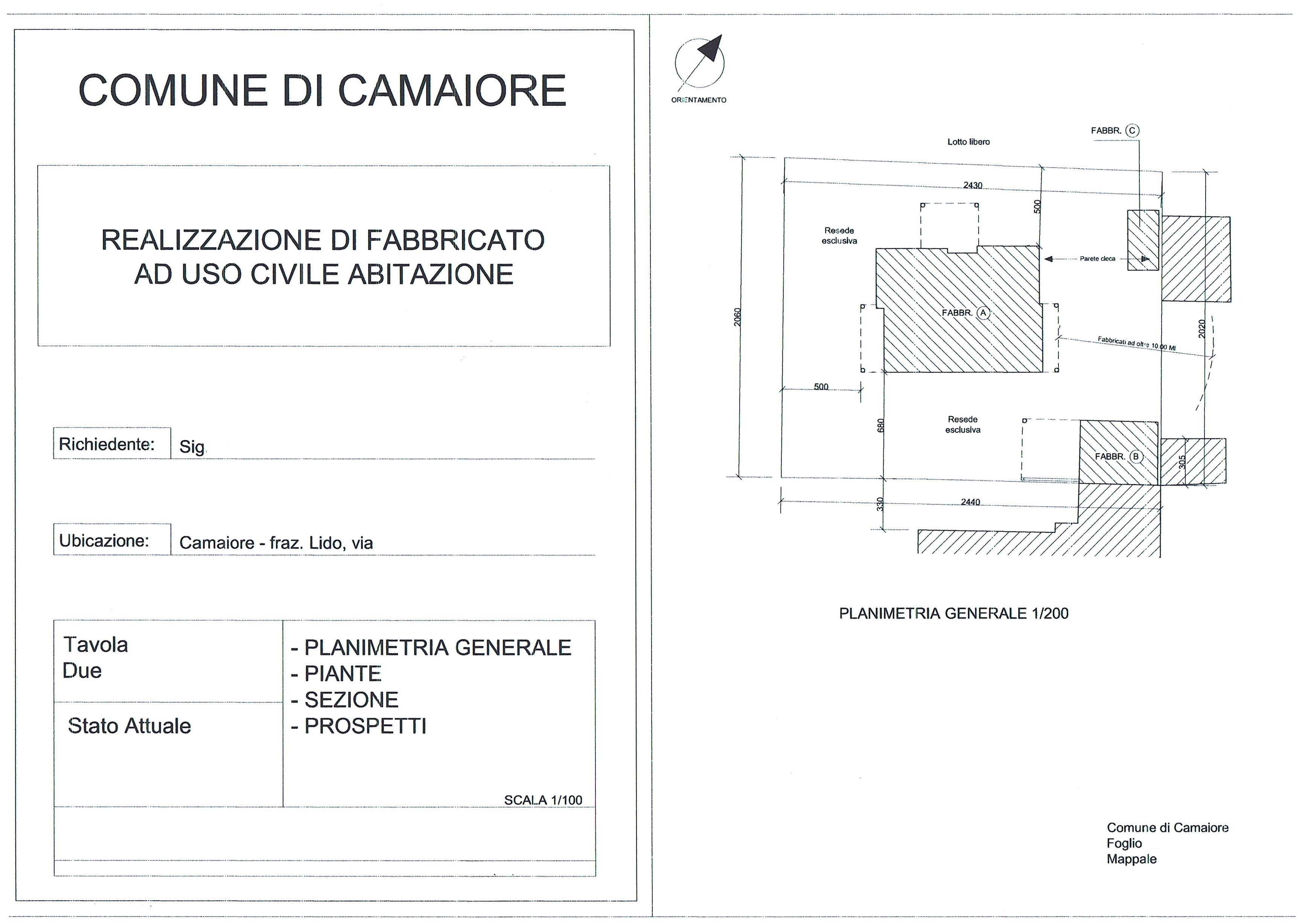 Planimetria 1/4 per rif. 3080LC