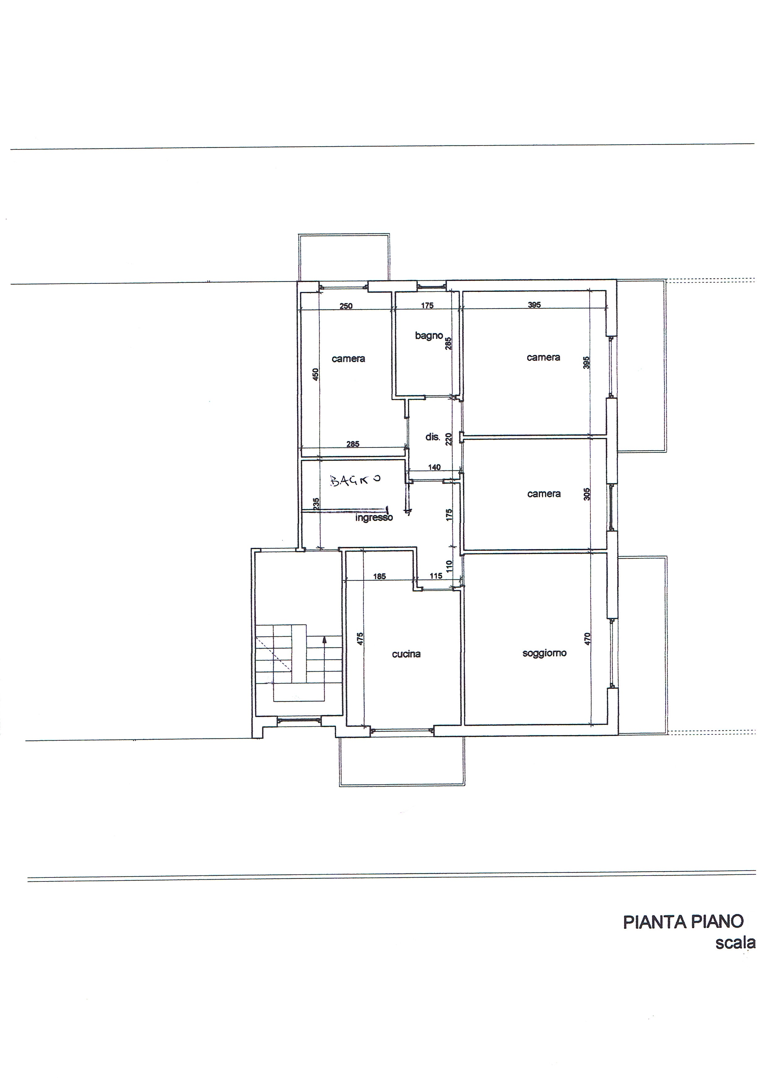 Planimetria 1/2 per rif. 3166V4